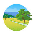 summer landscape with road vector image
