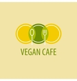 Vegan cafe vector image