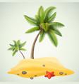 sunny palm beach vector image vector image