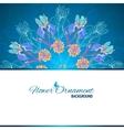 Blue floral ornament mandala background card vector image vector image