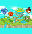 isometric game nature landscape template vector image