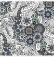 decorative grey floral ornamental pattern vector image
