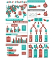 INFOGRAPHIC DEMOGRAPHICS POST IT RED vector image