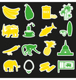 Sri-lanka country symbols color stickers set eps10 vector image
