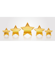5 gold stars vector image