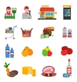 Supermarket Icons Set vector image