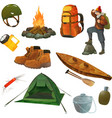 Hike icons vector image vector image