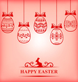 easter contour blur vector image vector image