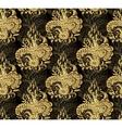 golden seamless floral background vector image