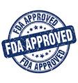 fda approved blue grunge round vintage rubber vector image