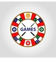 circle logo Desktop gambling cards vector image