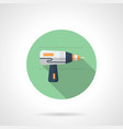 drilling tool flat round icon vector image