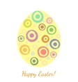 Grunge blobs in a shape of easter egg vector image