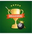 Winning Billiards vector image