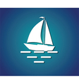 yacht sea symbol vector image vector image