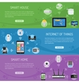 Smart House and internet of things Horizontal vector image vector image