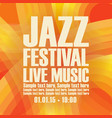 poster for the jazz festival live music vector image