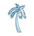 shadow palm cartoon vector image