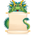 Dragon with scroll - symbol of Chinese horoscope vector image