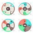 Meet people online infographic pictograms set vector image vector image