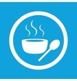 Hot soup sign icon vector image