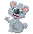 cute koala cartoon presenting vector image