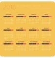 Calendars for 2016 Orange vector image