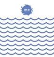 seamless sea wave vector image