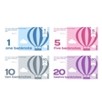 Abstract Cute Color Banknotes Set vector image