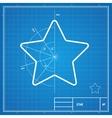 blueprint star card vector image