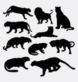 Cheetah panther leopard lion silhoutte vector image