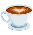 Coffee with heart vector image