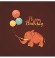 Elephant happy birthday card vector image