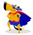 halloween dog character in superman costume vector image