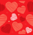knitted heart seamless ornament vector image