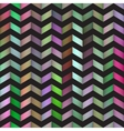 Seamless Colorful Gradient ZigZag Black vector image