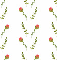 Watercolor seamless pattern with roses vector image