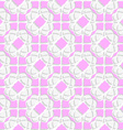 White geometrical ornament textured with pink vector image