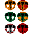 set of faces of elphant vector image vector image