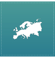 Eurasia map flat icon vector image vector image