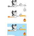 Cartoon stork with baby vector image vector image