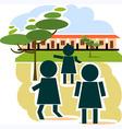 school place vector image