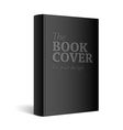 Black Realistic Blank book cover vector image vector image