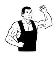 Strongman vector image vector image