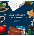 Travel blog template holiday vacation tourism vector image