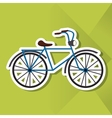 Icon design of bike vector image