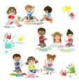 Kids Creativity Practice vector image