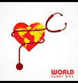 Creative World Heart Day Greeting stock vector image vector image