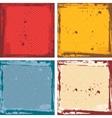 Abstract grunge frame set red orange blue beige vector image