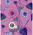 Bindweed flowers a seamless pattern vector image